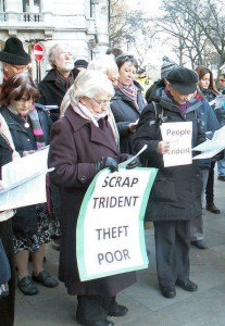 Clear message at MoD, London  during Ash Wednesday witness