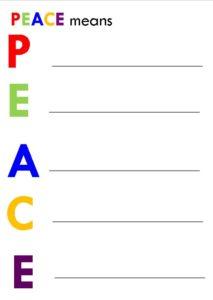 Children prayer activity card