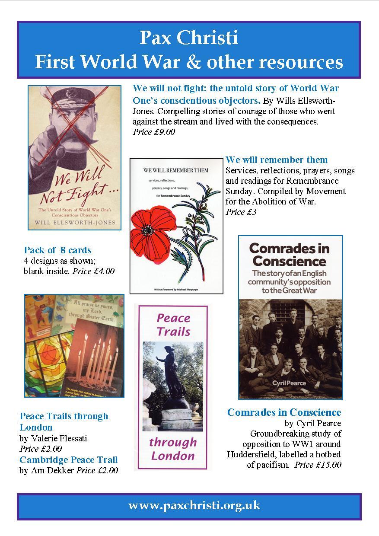 First World War & Remembrance – Pax Christi UK