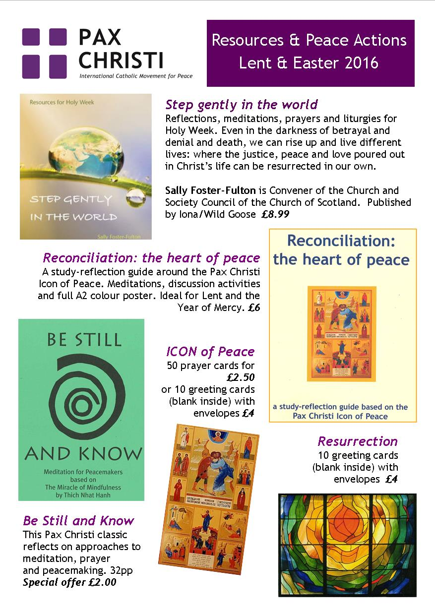 preparing for lent and easter with pax christi pax christi uk rh paxchristi org uk Sermons for Lent Lent Scripture