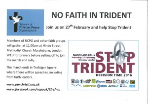 Stop Trident National Rally @ Hinde Street Methodist Church | London | United Kingdom