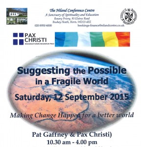 Suggesting the Possible in a Fragile World: day gathering @ The Niland Conference Centre | Bushey | United Kingdom