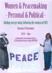 Women and Peacemaking-Personal & Political @ Bloomsbury Central Baptist Church | London | United Kingdom