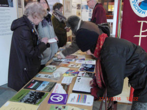 04e 17.1.16 Pax Christi Peace  Sunday stall in Liverpool RC Cathedral