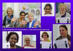 Celebrate peace women on International Women's Day 8 March