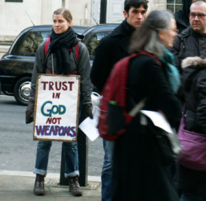 London Ash Wednesday Witness against nuclear weapons @ Embankment Gardens Whitehall Section  | England | United Kingdom