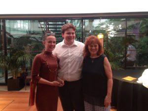 Emma with George Mizen and Margaret MIzen