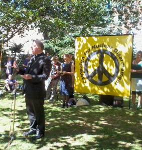 Bishop Thomas McMahon speaking in Tavistock Square