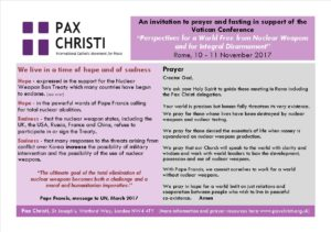 Pray for Vatican Conference on Nuclear Weapons @ Vatican City  | Rome | Lazio | Italy