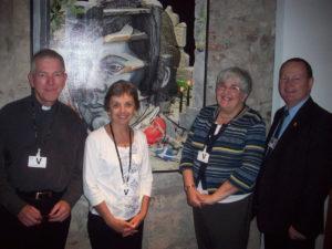 David Mumford (SCANA) Pat Gaffney , Carol Clark ( J&P Scotland) and Bill Kidd MSP in the Scottish Parliament