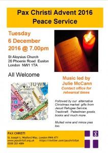 Pax Christi Advent Service @ St Aloysius Church   London   England   United Kingdom