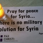 Pray tonight for peace for the people of Syria