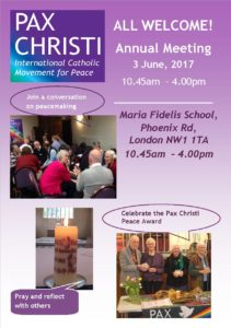 Pax Christi Annual Meeting @ Maria Fidelis School | England | United Kingdom