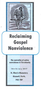 Reclaiming Gospel Nonviolence: Perth, Scotland @ St Mary's Monastery | Kinnoull | Scotland | United Kingdom
