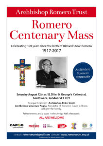 Romero Centenary Mass @ St George's Cathedral | England | United Kingdom