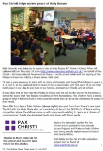 Pax Christi in Oldham Peace Times