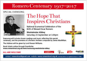 Blessed Oscar Romero - Evensong, Westminster Abbey @ Westminster Abbey | England | United Kingdom