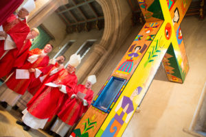 Celebrants at Romero Cross & relic, St George's Cathedral.