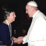 Pat Gaffney of Pax Christi meets Pope Francis