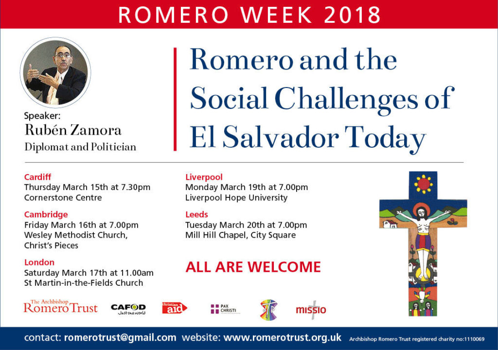 Romero Week Lectures March 2018