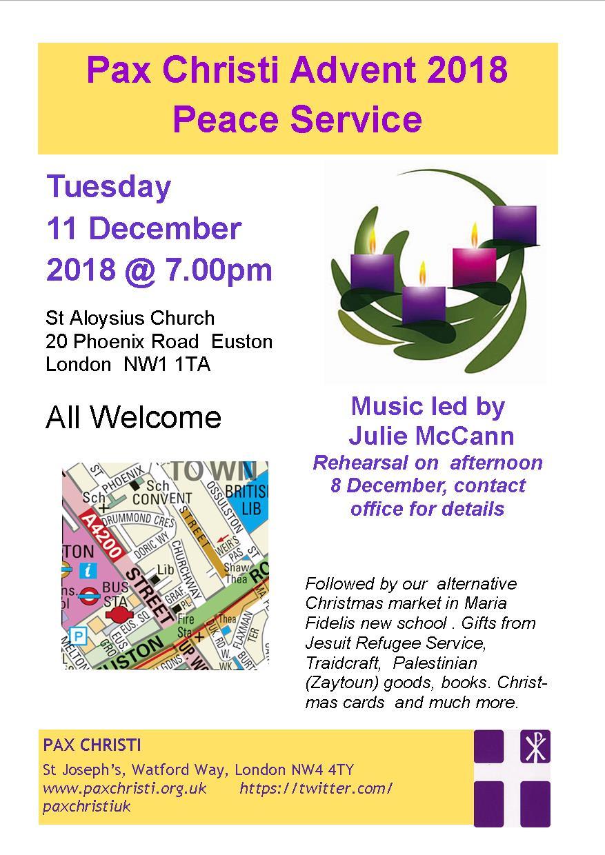 Pax Christi Advent Peace Service and Christmas Market – Pax Christi UK