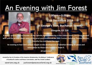 Jim Forest Talk - Glasgow @ St George's Tron | Scotland | United Kingdom