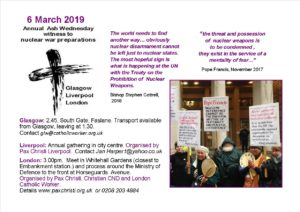 Ash Wednesday Event - London @ Ministry of Defence