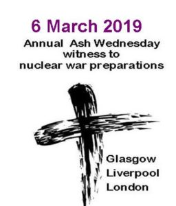 Ash Wednesday 2019 - events in Scotland, London, Liverpool
