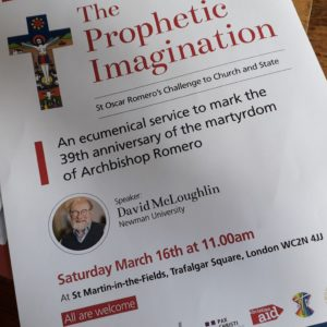 Archbishop Romero Anniversary: The Prophetic Imagination @ St Martin in the Fields