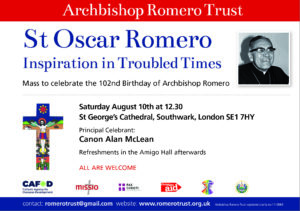 St Oscar Romero Mass: London @ St George's Cathedral,