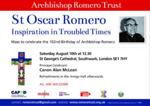 St Oscar Romero Mass: London @ St George's Cathedral,