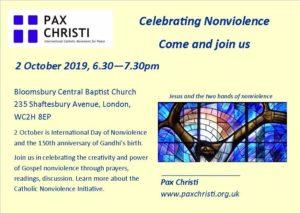 Celebrating Nonviolence @ Bloomsbury Baptist Church