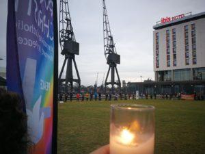Vigil at DSEI Arms Fair