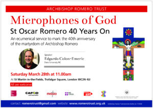 Cancelled: St Oscar Romero: Ecumenical Service @ St Martin-In-The-Fields