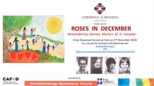 Roses in December Remembering Women Martyrs of El Salvador