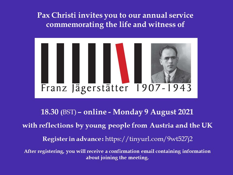 Annual Franz Jägerstätter Service @ On-line