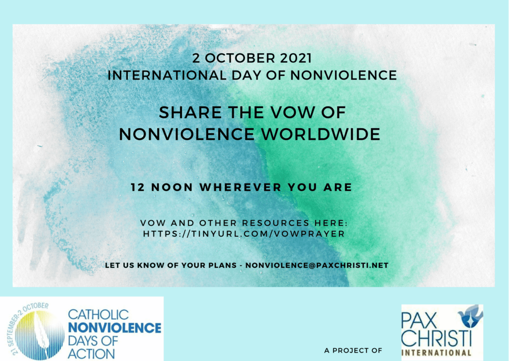 Pray the Vow of Nonviolence Worldwide @ International
